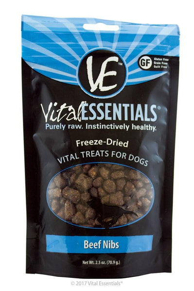 Vital Essentials FD Vital Treats - Beef Nibs 2.5oz - Dog - Vital Essentials - Leaderpetsupply.com