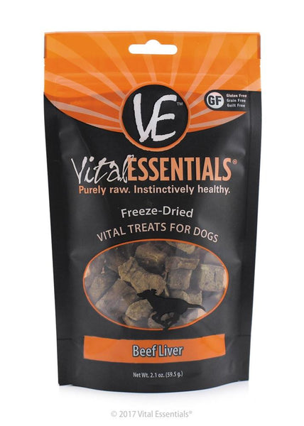 Vital Essentials FD Vital Beef Liver Treat 2.1oz - Dog - Vital Essentials - Leaderpetsupply.com