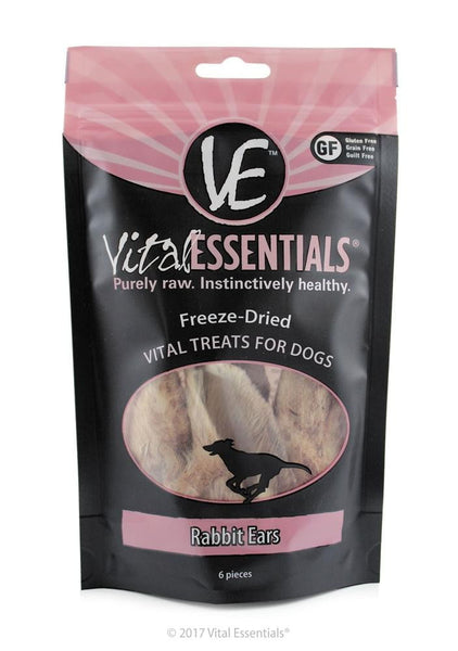 Vital Essentials FD Vital Rabbit Ear Treat 6pc