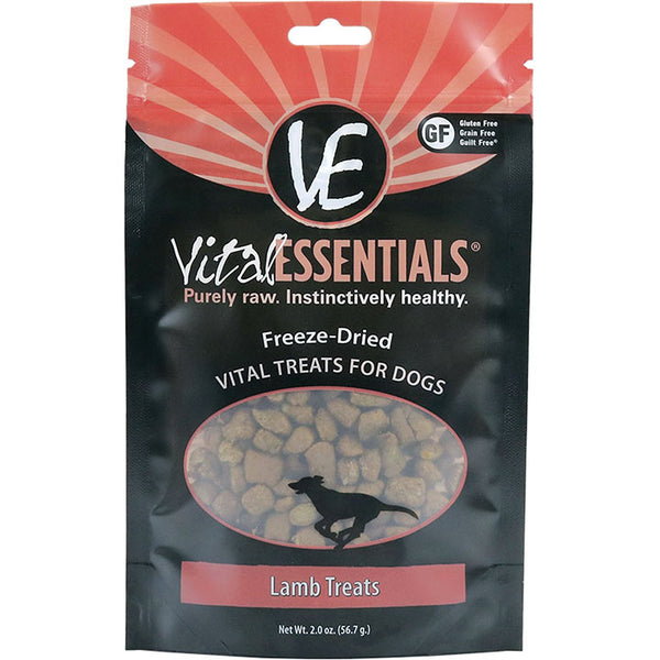 VITAL ESSENTIALS DOG FREEZE-DRIED TREAT LAMB 2OZ - Dog - Vital Essentials - Leaderpetsupply.com