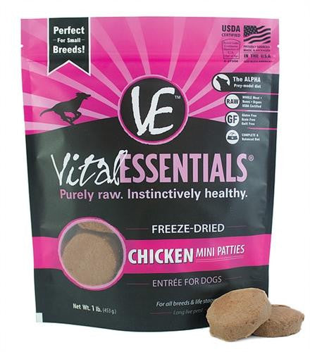 Vital Essentials Freeze-Dried Chicken Nibblets 1lbs