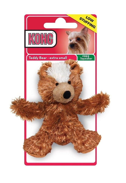 Kong Unstuffed Teddy Bear with Squeaker X-Small.