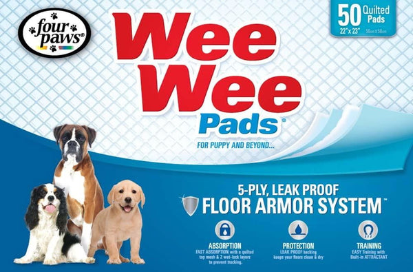 Four Paws Wee-Wee Pads 50pk.