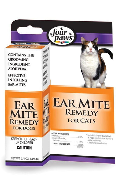Four Paws Aloe Ear Mite Treatment Cat .75oz.