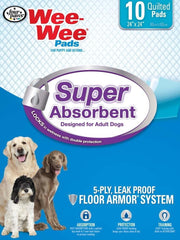 Four Paws Super Absorbent Wee Wee Pads 10ct