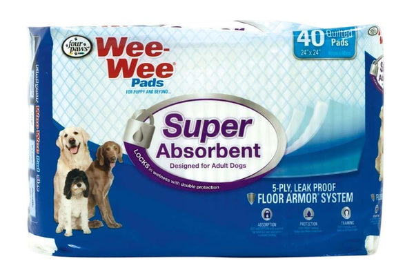 Four Paws Super Absorbent Wee Wee Pads 40ct.