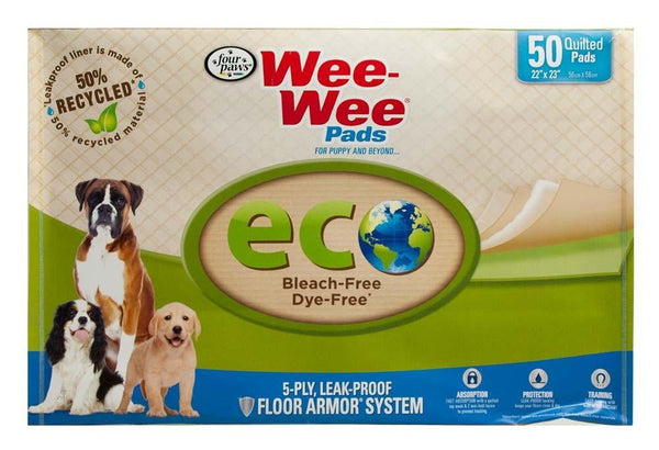 Four Paws Wee-Wee Eco Pad 50 Pack.