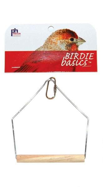 Prevue Pet Products Birdie Basics Wood Swing 4inX5in