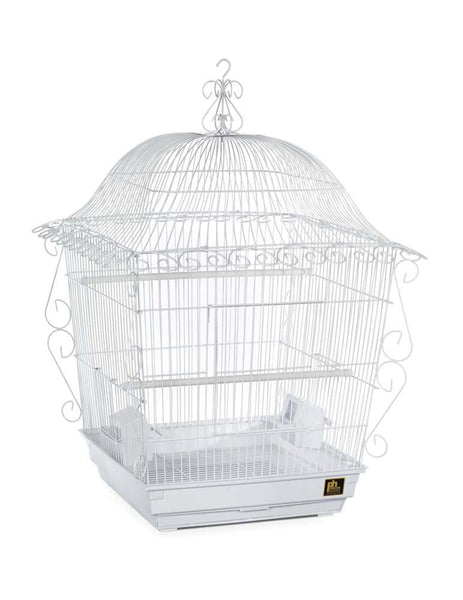 Prevue Pet Products Jumbo Scrollwork Cage White 18x18.