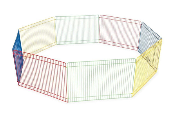 Prevue Pet Products Multi-Color Small Animal Playpen 36in Diameter.