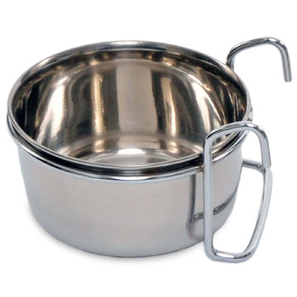 Prevue Pet Products Stainless Steel Coop Cup with Hanger 10oz.
