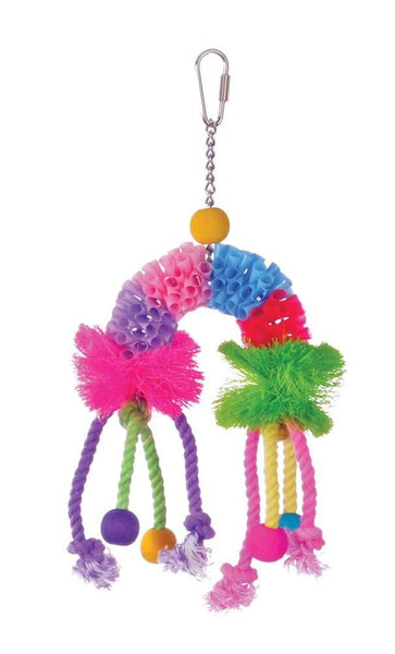 Prevue Pet Products Calypso Creations Over the Rainbow Bird Toy.