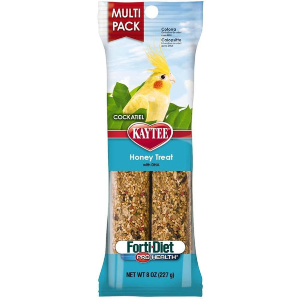 Kaytee Forti-Diet Pro Health Cockatiel Honey Stick Value 8oz.
