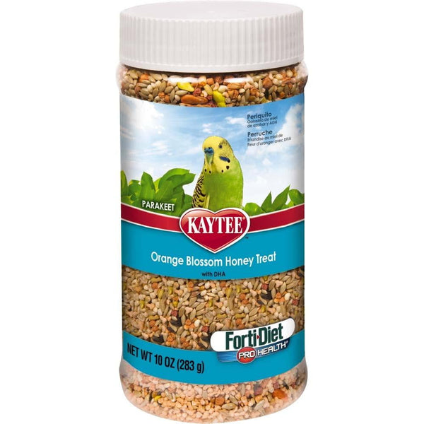 Kaytee Forti-Diet Pro Health Parakeet Oran Blos Honey Jar 10oz.