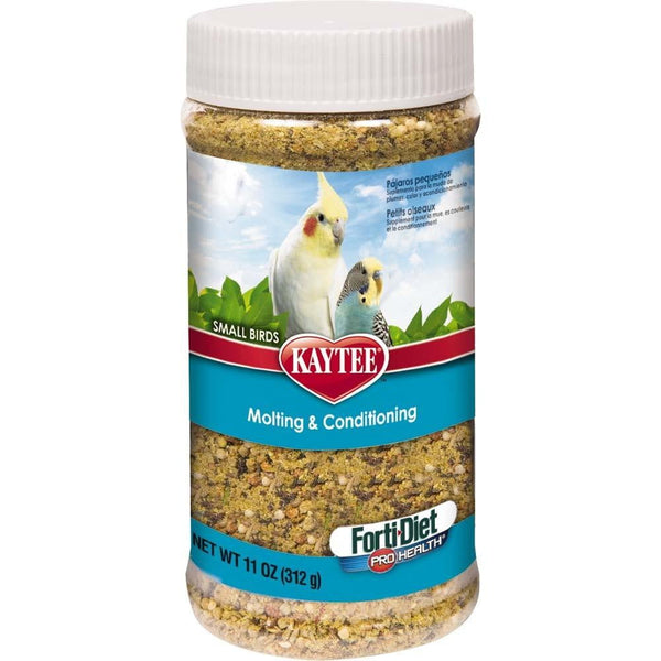 Kaytee Forti-Diet Pro Health Small Bird Molt Cond 11oz Jar.
