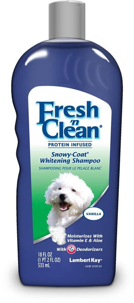 Fresh 'n Clean Protein Infused Snowy Coat Whitening Shampoo 18oz.