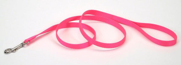 Coastal Single-Ply Nylon Leash Neon Pink 3-4X4ft.