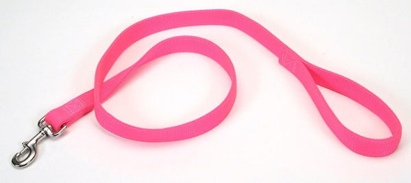 Coastal Double-Ply Nylon Leash Neon Pink 1X4ft