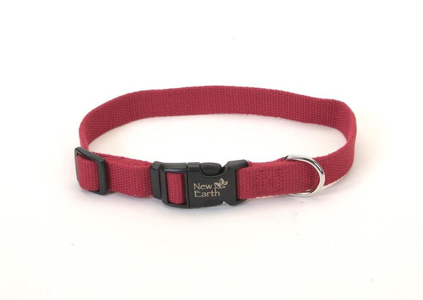Coastal New Earth Soy Adjustable Collar Cranberry 1X 18-26in.