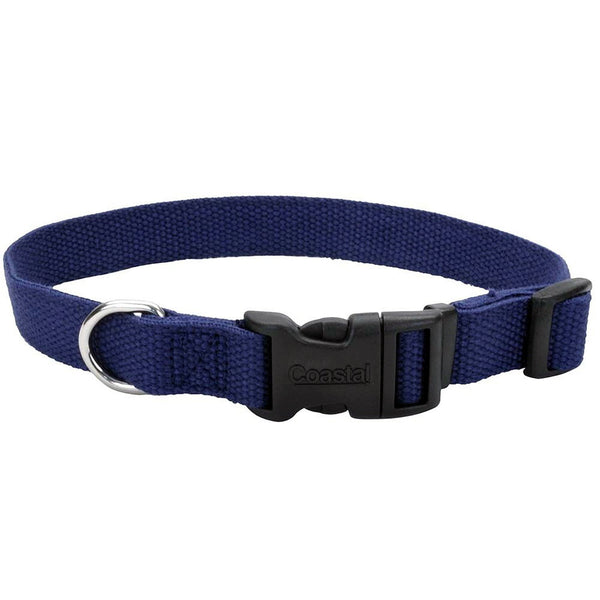 Coastal New Earth Soy Adjustable Collar Indigo 1X 18-26In.