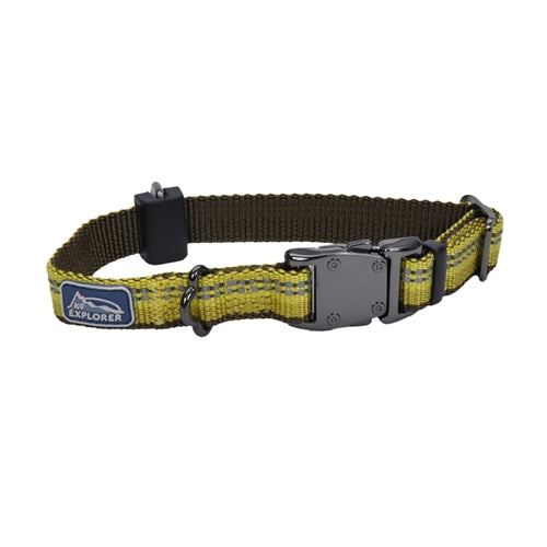 "Coastal K9 Explorer 5-8"" ADJ COLLAR   Goldenrod Yellow (10-14"")."