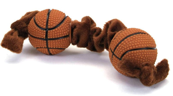 Coastal Li'l Pals Plush and Vinyl Dog Toy Basketball Tug Toy.