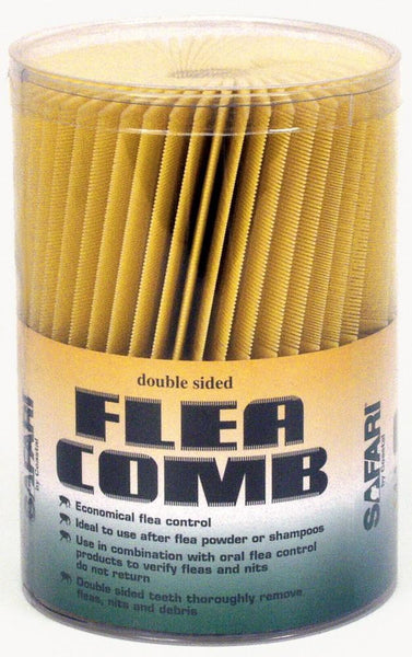 Coastal Safari Flea Combs Plastic Double Sided 100pc.