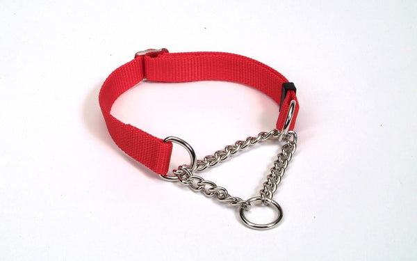Coastal Check Training Collar for Dogs Adjustable Red 5-8X10-14in.