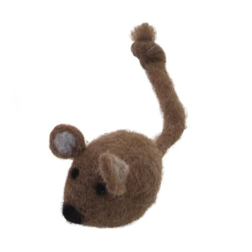 "Coastal Pet Products Rascals  Handcrafted Wool 5"" Brown Mouse."