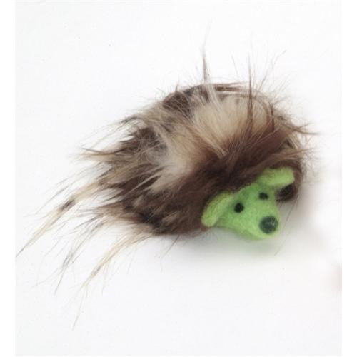 "Coastal Pet Products Rascals  Handcrafted Wool 3"" Green Hedgehog."