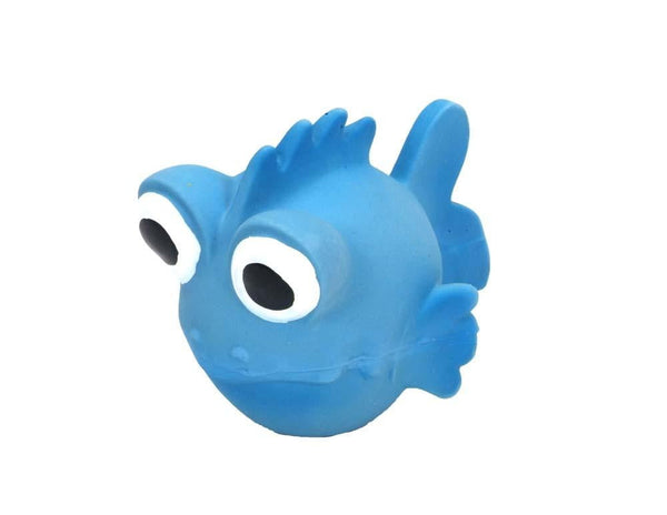 Coastal Rascals Latex Toy Goldfish Blue Lagoon 3.5in.