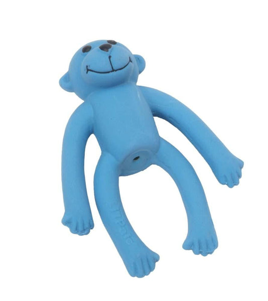 Coastal Li'l Pals Latex Toy Monkey Blue 4in.