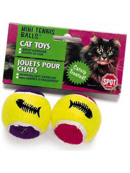 Ethical Products Spot Mini Tennis Balls With Bell & Catnip Assorted 2pk.