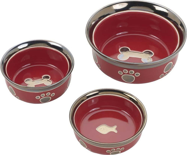 Ethical Products Spot Ritzy Copper Rim Dog Red 5in.