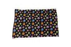 Ethical Snuggler Rainbow Pawprnt Blanket Black 40X58.