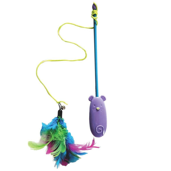 Ethical Spot Laser & Feather Teaser Wand Cat Toy.