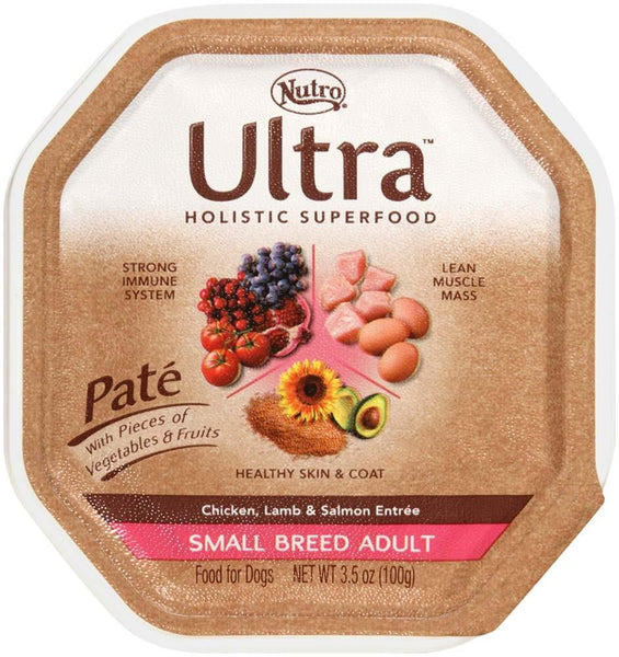Ultra Pate Chicken, Lamb, & Salmon Entree Small Breed Dog Food 24ea-3.5oz