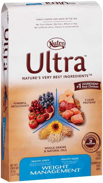 NUTRO ULTRA Adult Weight Management Dry Dog Food 30 Pounds.