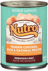 Nutro Chicken, Rice & Oatmeal Recipe Can Dog Food 12ea-12.5oz