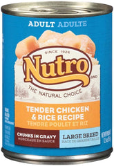 NUTRO HEARTY STEWS Chunks in gravy Variety Pack: Meaty Lamb & Rice Stew and Chunky Chicken & Turkey Stew Canned Dog Food 12.5 Ounces (Pack of 6)