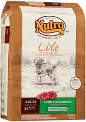 NUTRO WHOLESOME ESSENTIALS Healthy Weight Pasture-Fed Lamb & Rice Recipe Adult Dry Dog Food 30 Pounds.
