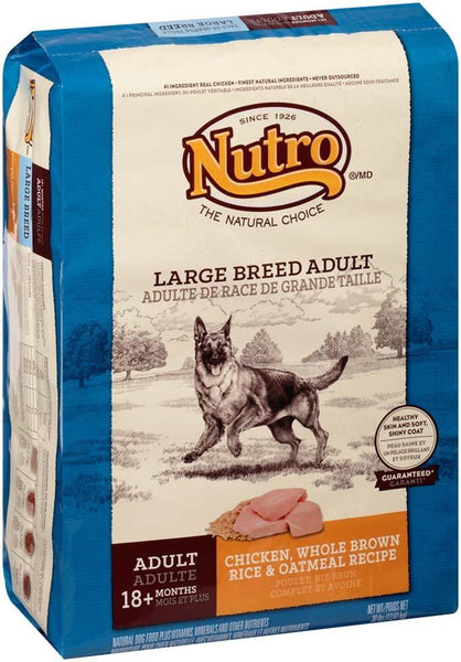 NUTRO WHOLESOME ESSENTIALS Farm-Raised Chicken, Brown Rice & Sweet Potato Recipe Large Breed Adult Dry Dog Food 30 Pounds.