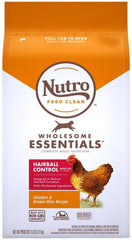 Nutro Wholesome Essentials Hairball Control Chicken Brown Rice Dry Cat Food 5lb