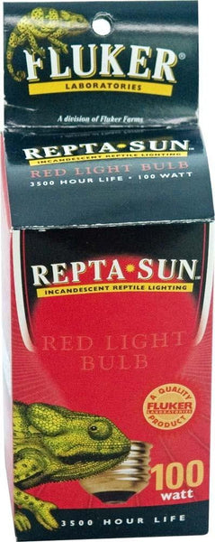 Fluker's Repta-Sun Incandescent Reptile Red Light Bulb 40 Watt.