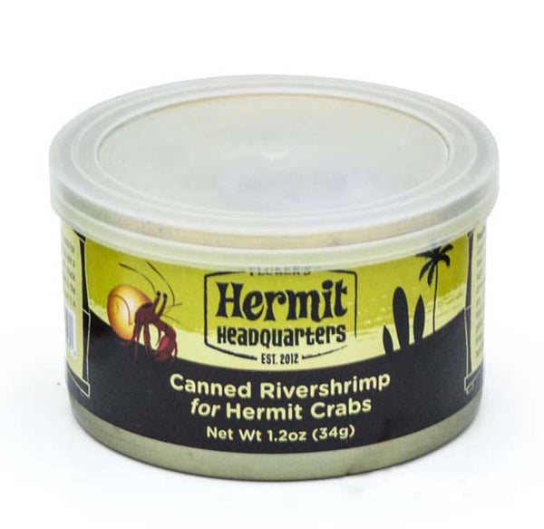 Flukers Hermit Crab Canned River shrimp 1.2oz.