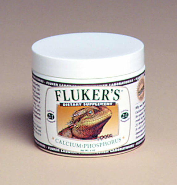 Fluker's Dietary Supplement Calcium Phosphorus 2:1 4oz.