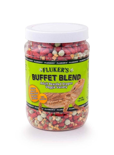 Fluker's Buffet Blend Adult Bearded Dragon Veggie Variety 7oz.