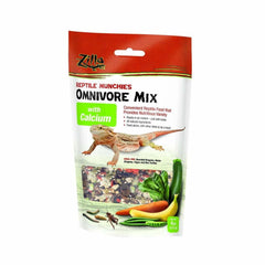 Zilla Reptile Munchies Omnivore Food Mix with Calcium 4oz