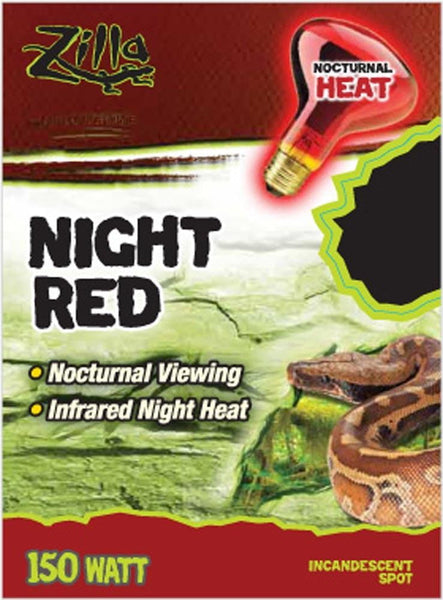 Zilla Night Red Incandescent Spot Bulb 150W.