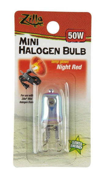 Zilla Halogen Mini Lamp Red 50W.